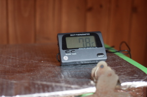 今朝の冬眠水槽水温